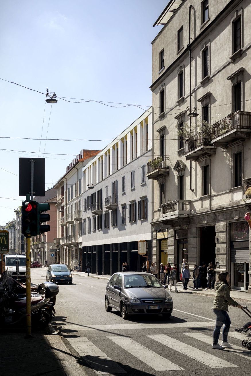 De amicis architetti via canonica 79 refurbishment milan traditional milanese building exterior